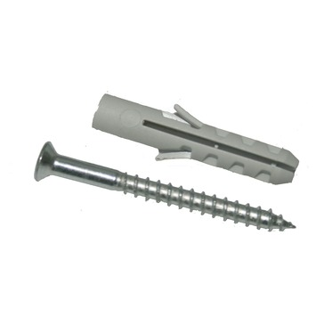 GAMMA plug 8 mm met spaanplaatschroef verzinkt 5x50 mm 8 stuks