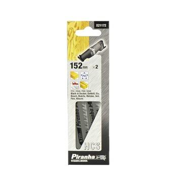 Piranha schrobzaagblad hout/kunststof/fijn/recht 152 mm 2 stuks X21172