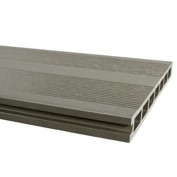 Vlonderdeel HKC Kunststof grijs 300x25x2,5 cm