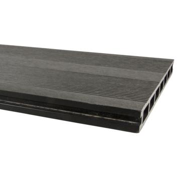 Vlonderplank HKC Kunststof antraciet ca. 300x25x2,5 cm