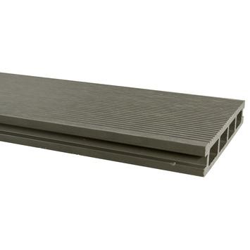 Vlonderdeel HKC Kunststof grijs 300x15x2,5 cm