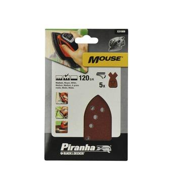 Piranha schuurstrook K120 Mouse 5 stuks X31009