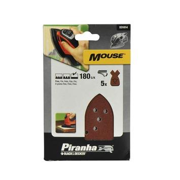 Piranha schuurstrook K180 Mouse 5 stuks X31014