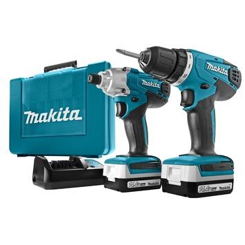 Makita combiset accuboormachine DF347D + accuslagschroevendraaier TD126D