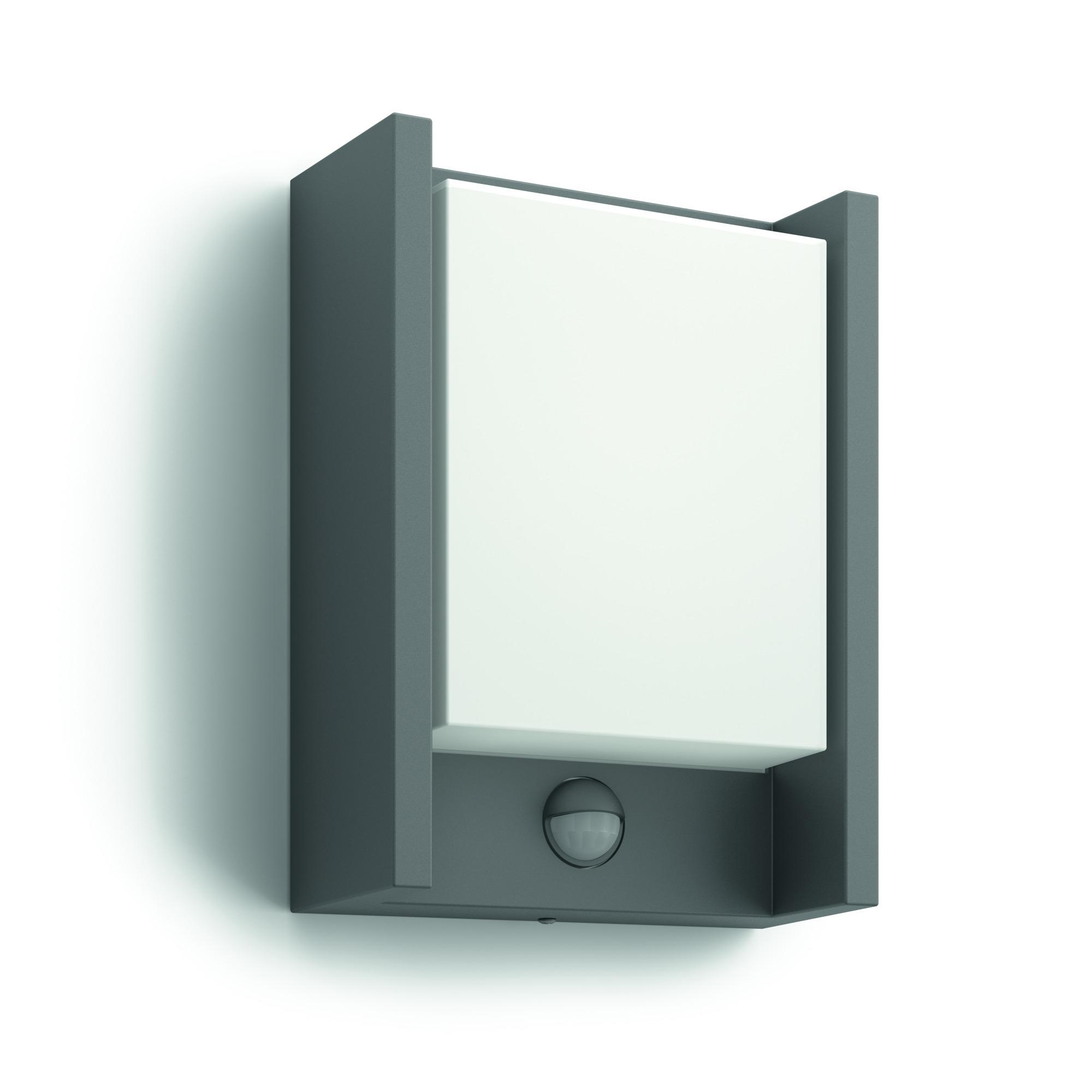 Philips Wandlamp MyGarden Arbour LED met sensor Antraciet 6.5W