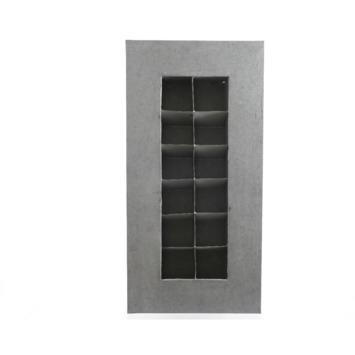 Muurkastje zink 34x10x71 cm