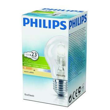 Philips EcoClassic halogeenlamp E27 18W helder