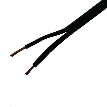 GAMMA tweelingsnoer plat zwart 2x0,75 mm² 10 meter