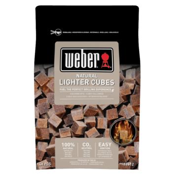 Weber aanmaakblokjes Eco bruin 48 stuks