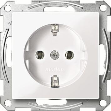 Schneider System-M pure stopcontact wit