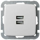 K2 wandcontacdoos met USB wit
