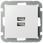 Ventoux stopcontact met USB wit