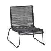 Loungestoel Capri Zwart Wicker