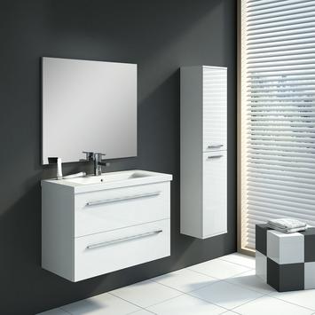 GAMMA | Badkamermeubelset Hera 80 cm wit met kolomkast kopen ...