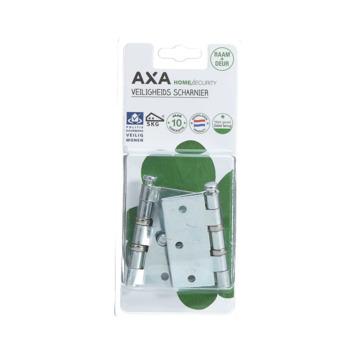AXA veiligheidsscharnier kogellager SKG 2-sterren verzinkt 76x76 mm - 2 stuks