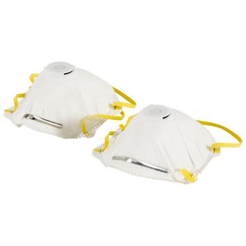 GAMMA veiligheidsmasker FFP1 met ventiel 2 stuks