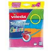 Vileda microvezel doek Color 4 stuks