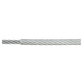 Staaldraad kunststof grijs 4/5 mm 1 meter