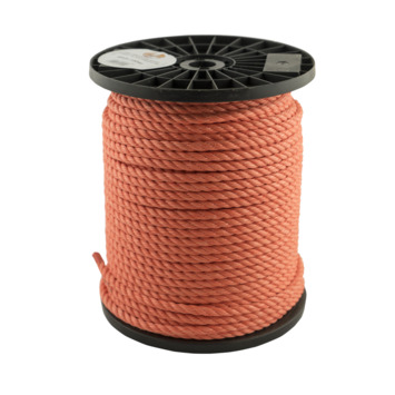 Touw op rol oranje 8 mm per meter
