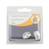 Draadklem simplex verzinkt 2 mm 2 stuks