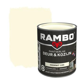 Rambo Pantserlak Deur & Kozijn hoogglans ivoorwit dekkend 750 ml