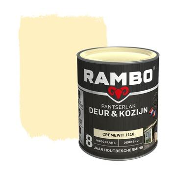 Rambo Pantserlak Deur & Kozijn hoogglans crèmewit dekkend 750 ml