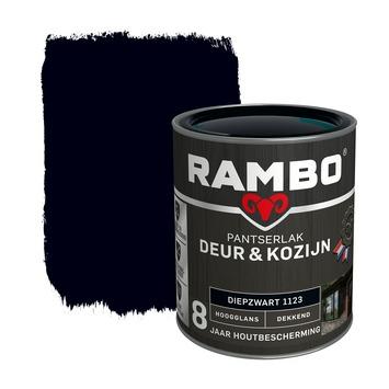 Rambo Pantserlak Deur & Kozijn hoogglans diepzwart dekkend 750 ml