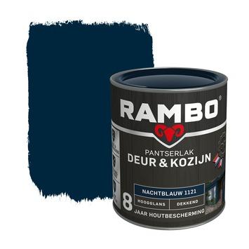 Rambo Pantserlak Deur & Kozijn hoogglans nachtblauw dekkend 750 ml