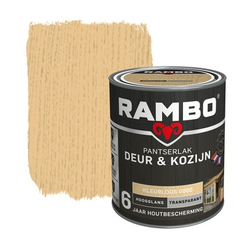 Rambo Pantserlak Deur & Kozijn hoogglans kleurloos transparant 750 ml
