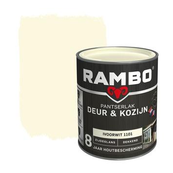 Rambo Pantserlak Deur & Kozijn zijdeglans ivoorwit dekkend 750 ml