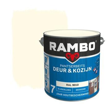 Rambo pantserbeits deur & kozijn dekkend RAL 9010 zijdeglans 2,5 liter