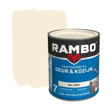 Rambo pantserbeits deur & kozijn dekkend RAL 9001 zijdeglans 750 ml