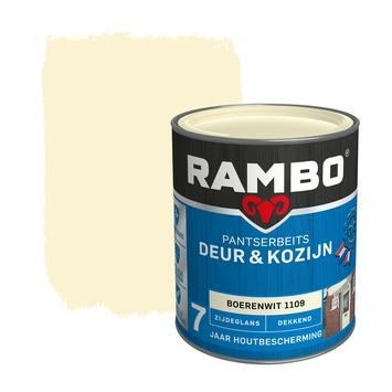 Rambo pantserbeits deur & kozijn dekkend boerenwit zijdeglans 750 ml