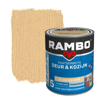 Rambo pantserbeits deur & kozijn transparant kleurloos zijdeglans 750 ml