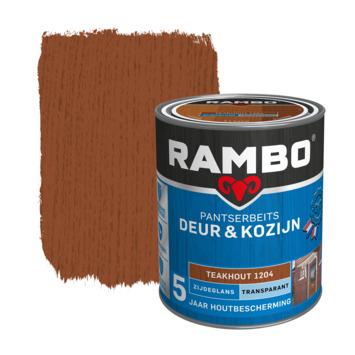 Rambo pantserbeits deur & kozijn transparant teakhout zijdeglans 750 ml