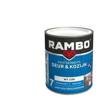 Rambo pantserbeits deur & kozijn dekkend wit hoogglans 750 ml
