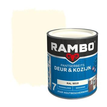 Rambo pantserbeits deur & kozijn dekkend RAL 9010 hoogglans 750 ml