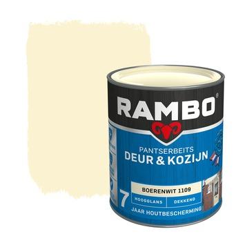 Rambo pantserbeits deur & kozijn dekkend boerenwit hoogglans 750 ml