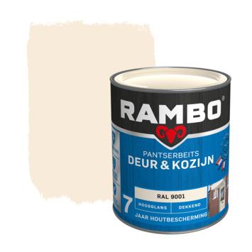Rambo pantserbeits deur & kozijn dekkend RAL 9001 hoogglans 750 ml
