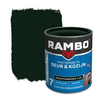 Rambo pantserbeits deur & kozijn dekkend grachtengroen hoogglans 750 ml