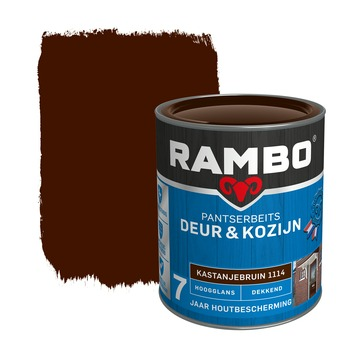 Rambo pantserbeits deur & kozijn dekkend kastanjebruin hoogglans 750 ml