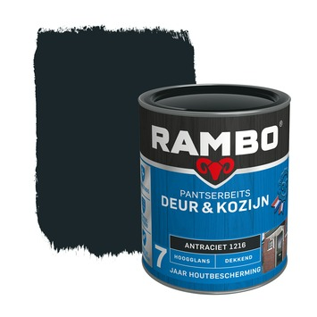 Rambo pantserbeits deur & kozijn dekkend antraciet hoogglans 750 ml