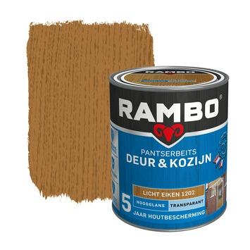 Rambo pantserbeits deur & kozijn transparant licht eiken hoogglans 750 ml