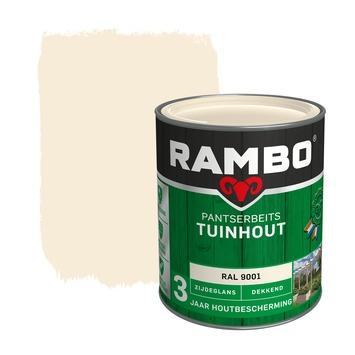 Rambo pantserbeits tuinhout dekkend RAL 9001 zijdeglans 750 ml