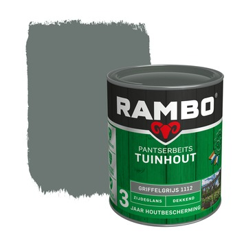 Rambo pantserbeits tuinhout dekkend griffelgrijs zijdeglans 750 ml