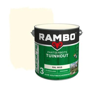 Rambo pantserbeits tuinhout dekkend RAL 9010 zijdeglans 2,5 liter