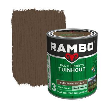 Rambo pantserbeits tuinhout transparant berkengrijs zijdeglans 750 ml