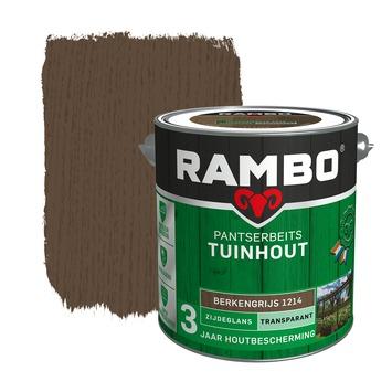 Rambo pantserbeits tuinhout transparant berkengrijs zijdeglans 2,5 liter