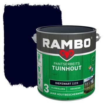 Rambo pantserbeits tuinhout  dekkend diepzwart zijdeglans 2,5 liter