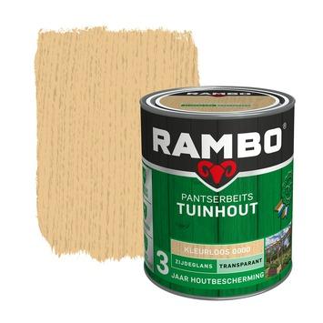 Rambo pantserbeits tuinhout transparant kleurloos zijdeglans 750 ml